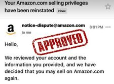 Appeal Letter Reinstate Suspended Amazon account Privileges Removed Suspension