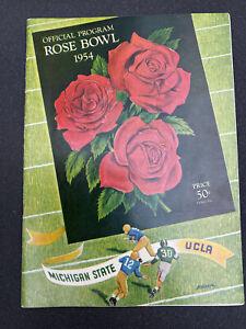 Vtg 1954  official rose bowl program michigan state vs UCLA
