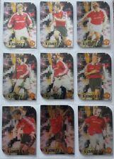 Manchester United Futera 1999 Fans Selection Vortex Set 9 cards.