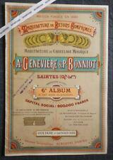 Rare Album MANUFACTURE DE CARRELAGE MOSAÏQUE Saintes Carreaux Pavés Architecture