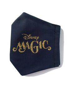 Disney Cruise Line Inspired Face Mask Disney Magic Navy Gold Glitter
