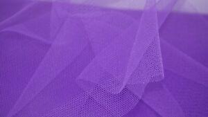 Purple Dress Net Tutu Fabric Tulle Fairy Bridal Nylon Material FLARE FREE