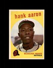 New listing 1959 TOPPS #380 HANK AARON BRAVES NM+ to NM-MT
