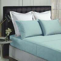 Park Avenue 500 Thread count Cotton Bamboo Sheet sets in Blue Fog