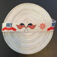 """7/8"""" July 4th Flags Grosgrain Ribbon by the Yard (USA SELLER!)"""