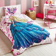 BARBIE DREAM SINGLE / TWIN SIZE 100% COTTON KID BEDDING DUVET QUILT COVER SET