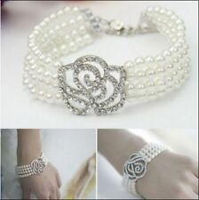Silver Plated Rhinestone Fashion Bracelets