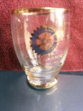 ROTARY  INTERNATIONAL DISTRICT  CONFERENCE  BUNDABERG  1965  GOLD TRIM  GLASS