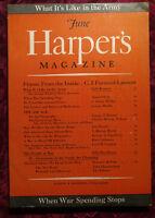 HARPER's June 1943 GEORGE BIDDLE JOHN DOS PASSOS STUART CHASE DALE KRAMER