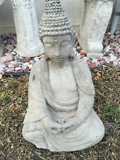 Meditating Buddha CEMENT STATUE CONCRETE Lawn Garden Decoration OrnamentBirdbath