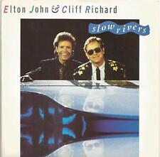 Elton John & Cliff Richard - Slow Rivers vinyl single