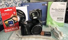 Open Box - Canon PowerShot SX150 IS 14.1 MP Camera - BLACK~~MINT~~16GB SD~~