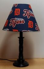 Detroit Tigers Lamp & Shade Fabric MLB Baseball Cotton New Navy Orange White