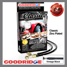 Jaguar XJ40 6.0L V12 1993 Goodridge Plated Classic Brake Hoses SJA0510-4P-CLA