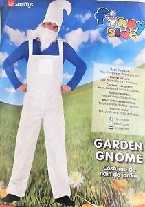 Smiffys Mens Garden Gnome Smurf Costume