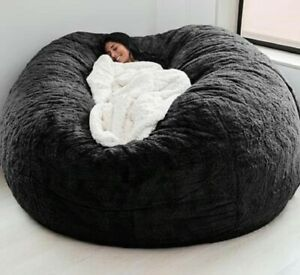 Huge Bean Bag 7ft Giant XL Chair Faux Suede Lounger Large Lazy Sofa Cover New