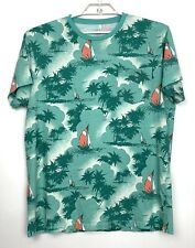 J Crew Men's XL Pocket Tee T Shirt Slim-Washed Sailboat Tropical Palm Tree