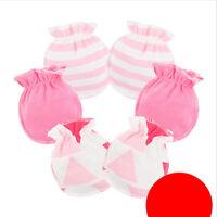 Infant Anti Scratch Mittens Newborn Baby Girl Glove Cotton Handguard 3 pairs G