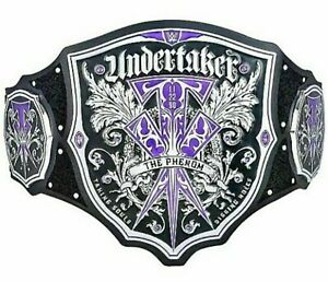 WWE UNDERTAKER THE PHENOM TITLE WWF WRESTLING ADULT REPLICA CHAMPIONSHIP BELT