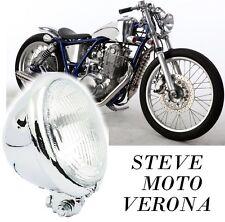 FARO ANTERIORE MOTO CROMATO UNIVERSALE OMOLOGATO HARLEY MOTO CUSTOM CAFE RACER