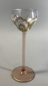 Theresienthal Meyr's Neffe Art Nouveau Enamel Glass Cordial Glass. C. 1905 #2