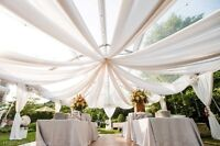"""10 Yards 60"""" Wide Chiffon Fabric Roll Sheer Draping Wedding Party Quality 20 COL"""