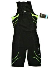 Aqua Sphere Men's Energize Triathlon Speed Swim Suit, Black Green, Size 36