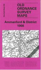 OLD ORDNANCE SURVEY MAP AMMANFORD, LLANDYBIE, PONTARDULAIS & DISTRICT 1908