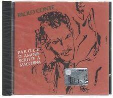 PAOLO CONTE PAROLE D'AMORE SCRITTE A MACCHINA CD F.C.  SIGILLATO!!!