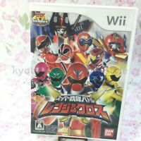 USED Wii Super Sentai Battle Ranger Cross without benefits 94170 JAPAN IMPORT