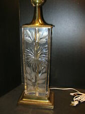"ARTIST SIGNED ""DRESDEN""  Wheel-cut CRYSTAL TABLE LAMP BASE"