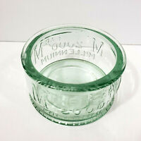 Vintage Y2k 2000 Millennium Green Glass Bowl Collectable