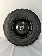 "Marathon 4.10/3.50-6"" Flat Free, Hand Truck / All Purpose Utility Tire on Wheel"