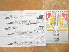 """F-106A DELTA DART """"5 USAF/JACK THE GRIPPER/BONES CRUSHER"""" MICROSCALE DECALS 1/72"""