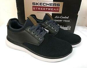 Skechers Men's Streetwear Memory Foam Slip On Shoes - PICK SIZE - NAVY - 0R_27