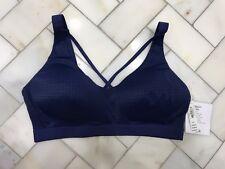 NWT Victoria's Secret VSX Lightweight Sports Bra 36D Strappy Front! Navy Blue