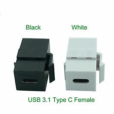 USB 3.1 C Connector Keystone Insert Female to Female for Wall Plate Outlet Panel