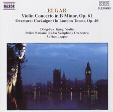 ELGAR - VIOLIN CONCERTO + COCKAIGNE OVERTURE / DONG SUK-KANG; ADRIAN LEAPER
