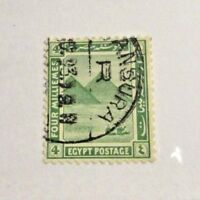 EGYPT Scott #65 Θ used  Pyramid very fine 4 milliemes stamp + 102 card