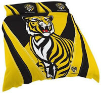 Richmond Tigers Quilt | Doona Cover Set | AFL Aussie Rules | Football | Queen