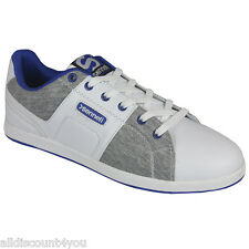 Sonneti Mens ENZO DESIGNER White & Grey Tennis Trainer Shoe Uk8/eu42