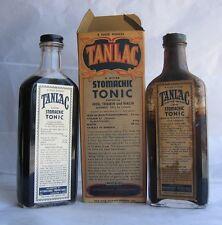 VTG 2 bottles of Tanlac Stomachic Tonic apothecary Rx Prescription Pharmacy