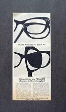 H939- Advertising Pubblicità - 1963 - OCCHIALI DA SOLE POLAROID
