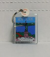 New York, Statue of Liberty, Rectangle Plastic Keychain by City Merchandise, NEW