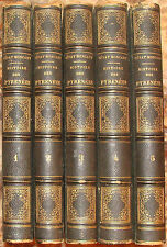 CENAC-MONCAUT. HISTOIRE DES PYRENEES. 1853-1855. EDITION ORIGINALE. 5 VOLUMES.