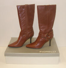 FIORELLI WOMENS POINTY WINTER BOOTS TAN SIZE 9 LEATHER LADIES MATANA WSK rrp$279