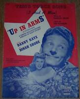 Danny Kaye Hans Christian Andersen Up in Arms Josie Lot Four Movie Sheet Music