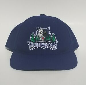 Vintage Minnesota Timberwolves Twins Enterprise NBA 90's Snapback Hat Vgc!
