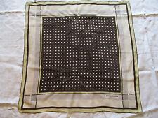 Foulard Vintage Jean Louis SCHERRER Crêpe de Soie ourlé main TBE scarf étiquette