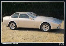 TVR 420 SPORTS SALOON 1986 Prototipo mercato britannico OPUSCOLO illustrativo